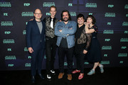 "(L-R) Mark Proksch, Doug Jones, Matt Berry, Harvey Guillen, and Kristen Schaal attend the FYC event of FX's ""What We Do In The Shadows"" at Avalon Hollywood on May 22, 2019 in Los Angeles, California."