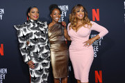 (L-R) Actors Aunjanue Ellis, Marsha Stephanie Blake and Niecy Nash attend FYC Event For Netflix's 'When They See Us' at Paramount Theater on the Paramount Studios lot on August 11, 2019 in Hollywood, California.