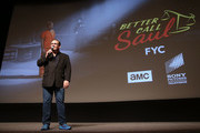 Actor Andy Richter attends the FYC screening and panel discussion of Better Call Saul moderated by Andy Richter featuring Peter Gould, Bob Odenkirk, Jonathan Banks, Rhea Seehorn, Michael McKean, Patrick Fabian, Michael Mando and writer Gordon Smith at the DGA Theater on May 8, 2017 in Los Angeles, California.