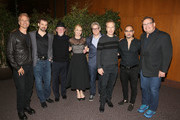 (L-R) Actor Patrick Fabian, writer Gordon Smith, actor Jonathan Banks, actress Rhea Seehorn, writer Peter Gould, actor Bob Odenkirk, actor Micheal Mando and actor Andy Richter attend the FYC screening and panel discussion of Better Call Saul moderated by Andy Richter featuring Peter Gould, Bob Odenkirk, Jonathan Banks, Rhea Seehorn, Michael McKean, Patrick Fabian, Michael Mando and writer Gordon Smith at the DGA Theater on May 8, 2017 in Los Angeles, California.