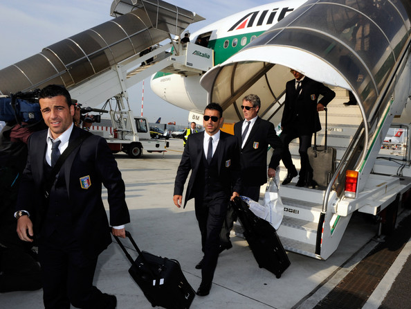 Italy's World Cup Football Team Arrives At Fiumicino Airport