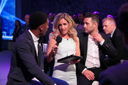 Simon Webbe, Rachel Stringer and Anthony Costa at the inaugural Facebook Football Awards on May 26, 2015 in London, England.