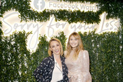 "Executive Producer/Creator Kit Steinkellner (L) and Actress Elizabeth Olsen attends the Facebook Watch ""Sorry For Your Loss"" S2 Premiere at NeueHouse Hollywood on October 1, 2019 in Los Angeles, California."
