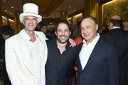 (L-R) Hotelier and Real Estate Developer Alan Faena, Brett Ratner and Business/Art Collector Len Blavatnik attend the Feana Hotel Miami Beach Opening Celebration at Faena Hotel on December 1, 2015 in Miami Beach, Florida.