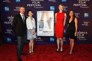 """(L-R) Scott Hamilton Kennedy, Grace Song, Brittany Hayes, and Leilani Makuakane Potter attend the """"Fame High"""" Premiere during the 2012 Tribeca Film Festival at the Chelsea Clearview Cinemas on April 21, 2012 in New York City."""
