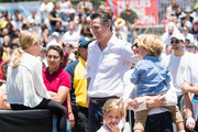 Gavin Newsom attends 'Families Belong Together  - Freedom for Immigrants March Los Angeles' at Los Angeles City Hall on June 30, 2018 in Los Angeles, California.