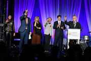 """Sam Lippitt, Nick Scandalios, Primavera Salva, Bruce Cohen, Tom Swann and Luigi Caiola attend Family Equality Council's """"Night At The Pier"""" at Pier 60 on May 7, 2018 in New York City."""