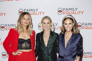 (L-R) Jac Vanek, Becca Tobin Martin and Keltie Knight attend the Family Equality Los Angeles Impact Awards 2019 at a Private Residence on October 05, 2019 in Los Angeles, California.