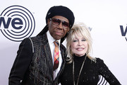 Nile Rodgers and Dolly Parton attend We Are Family Foundation honors Dolly Parton & Jean Paul Gaultier at Hammerstein Ballroom on November 05, 2019 in New York City.