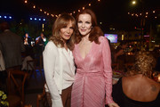 Jaclyn Smith (L) and Marcia Cross attend the Farrah Fawcett Foundation's Tex-Mex Fiesta on September 06, 2019 in Los Angeles, California.