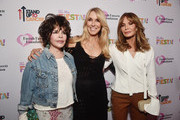 (L-R) Carole Bayer Sager, Farrah Fawcett Foundation CEO Alana Stewart and Jaclyn Smith attend the Farrah Fawcett Foundation's Tex-Mex Fiesta on September 06, 2019 in Los Angeles, California.