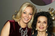Nadja Swarovski and Bianca Jagger attend a welcome dinner hosted by Nadja Swarovski in anticipation of the Fashion Awards in partnership with Swarovski at The Arts Club on December 3, 2017 in London, England.
