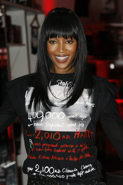 Naomi Campbell Naomi Campbell Opens a Fashion For Relief - Pop-Up Shop at Westfield on February 26, 2010 in London, England.
