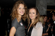 Lucy Yeomans and Natalia Vodianova attend the Naked Heart Cocktail Party hosted by Natalia Vodianova, at Baglioni Hotel on September 8, 2010 in London, England.