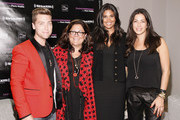 (L-R) Lance Bass, Fern Mallis, Rachel Roy and Rebecca Minkoff attend Fashion's Night Out at Saks Fifth Avenue on September 6, 2012 in New York City.