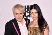 Nick Rhodes (L) of Duran Duran and Nefer Suvio attend the Fashion Rocks 2014 After Party at Weylin B. Seymour's on September 9, 2014 in Brooklyn City.