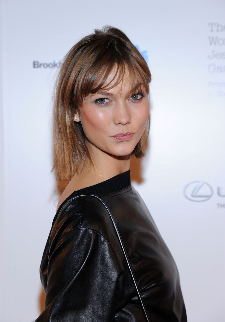 Model Karlie Kloss attends the VIP reception and viewing for The Fashion World of Jean Paul Gaultier: From the Sidewalk to the Catwalk at the Brooklyn Museum on October 23, 2013 in the Brooklyn borough of New York City.
