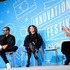 """Donna Langley Jordan Peele Photos - Jordan Peele, Donna Langley and Stephanie Mehta speak on stage at the """"Unconventional Storytelling: A Creative Conversation with Donna Langley and Jordan Peele"""" panel at the Fast Company Innovation Festival - Day 2 on November 06, 2019 in New York City. - Fast Company Innovation Festival - Day 2"""