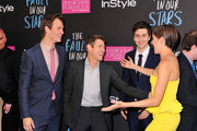 (L-R)  Actors Ansel Elgort, Willem Dafoe, Nat Wolff, and Shailene Woodley attend 'The Fault In Our Stars' premiere at Ziegfeld Theater on June 2, 2014 in New York City.