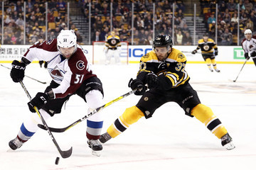 Fedor Tyutin Colorado Avalanche v Boston Bruins