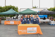 (L-R) Shanola Hampton, JoAnna Garcia, Leighton Meester, Malin Ã…kerman, Jennie Garth and Luca Bella Facinelli volunteer at the Feeding America and Los Angeles Regional Food Bank Team in a special volunteer event for Mother's Day on May 07, 2019 in Los Angeles, California.