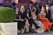 Zoey Deutch, Sarah Snyder, Luka Sabbat, Winnie Harlow, Kiernan Shipka and Christian Coppola attend the Fendi Couture Fall Winter 2019/2020 Show on July 04, 2019 in Rome, Italy.