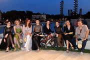 (L-R) Sara Serraiocco, Margherita Buy, Miriam Leone, Vittoria Puccini, Valentina Cervi, Alba Rohrwacher, Isabella Ferrari and Alessandro Roja attend the Fendi Couture Fall Winter 2019/2020 Show on July 04, 2019 in Rome, Italy.
