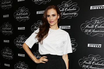 Fernanda Tavares Stars at the Pirelli Calendar 50th Anniversary Event