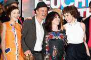 (L-R) Meret Becker, Edgar Selge, writer Charlotte Roche and actress Carla Juri attend 'Feuchtgebiete' Germany Premiere at Sony Centre on August 13, 2013 in Berlin, Germany.