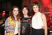 (L-R) Lena Meyer-Landrut, writer Charlotte Roche and actress Carla Juri attend 'Feuchtgebiete' Germany Premiere after show party at Gretchen on August 13, 2013 in Berlin, Germany.