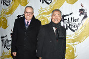 "Brad Altman (L) and George Takei attend the ""Fiddler On The Roof"" Broadway opening night at Broadway Theatre on December 20, 2015 in New York City."