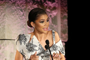Zendaya speaks onstage at the Fifth Annual InStyle Awards at The Getty Center on October 21, 2019 in Los Angeles, California.