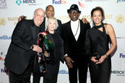 (L-R) Merle Wood, Claire Wood, Lamar Williams, Wesley Snipes, and Shinell Williams attend the Fifth Annual National CARES Mentoring Movement Gala at Cipriani Wall Street on February 10, 2020 in New York City.