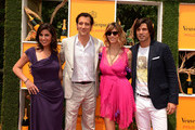 (L-R) President of Veuve Clicquot USA, Vanessa Kay, master of ceremonies, actor Clive Owen, Delfina Blaquier and polo player Nacho Figueras attend the  attends the fifth annual Veuve Clicquot Polo Classic on June 2, 2012 in Jersey City.