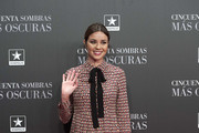 Actress Dafne Fernandez attends 'Fifty Shades Darker' (Cincuenta Sombras Mas Oscuras) premiere at the Kinepolis cinema on February 8, 2017 in Madrid, Spain.