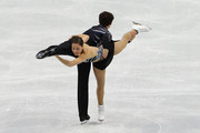 Jessica Dube and Bryce Davison of Canada compete in the figure skating pairs short program on day 3 of the Vancouver 2010 Winter Olympics at Pacific Coliseum on February 14, 2010 in Vancouver, Canada.