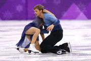 Madison Chock and Evan Bates of the United States compete in the Figure Skating Ice Dance Free Dance on day eleven of the PyeongChang 2018 Winter Olympic Games at Gangneung Ice Arena on February 20, 2018 in Gangneung, South Korea.