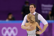 Aljona Savchenko and Bruno Massot of Germany react after completing their program during the Pair Skating Short Program on day five of the PyeongChang 2018 Winter Olympics at Gangneung Ice Arena on February 14, 2018 in Gangneung, South Korea.