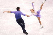 Aljona Savchenko and Bruno Massot of Germany compete during the Pair Skating Free Skating at Gangneung Ice Arena on February 15, 2018 in Gangneung, South Korea.