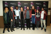 "(L-R) Lynn Shelton, Bart Davenport, Mamoudou Athie, Kelvin Yu, James Ponsoldt, Karen Gillan, Kelly Marie Tran, and Jay Duplass attend Film Independent presents live read Of ""Singles"" at Wallis Annenberg Center for the Performing Arts on November 05, 2019 in Beverly Hills, California."