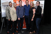 (L-R) Paul Katami, Jeff Zarrillo, Ben Cotner, Ryan White, Sandy Stier and Kris Perry attend a screening of 'The Case Against 8' presented by Film Society Of Lincoln Center at Walter Reade Theater on May 29, 2014 in New York City.