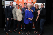 (L-R) Chad Griffin, Paul Katami, Jeff Zarrillo, Ben Cotner, Kate Amend, Ryan White, Sandy Stier and Kris Perry attend a screening of 'The Case Against 8' presented by Film Society Of Lincoln Center at Walter Reade Theater on May 29, 2014 in New York City.