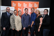 (L-R) Chad Griffin, Paul Katami, Jeff Zarrillo, Ben Cotner, Ryan White, Sandy Stier and Kris Perry attend a screening of 'The Case Against 8' presented by Film Society Of Lincoln Center at Walter Reade Theater on May 29, 2014 in New York City.