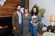 """Adam Scott, Filmmaker Kulap Vilaysack and Naomi Scott attend her party to celebrate her new documentary """"Origin Story"""" on May 10, 2019 in Los Angeles, California."""