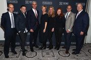 (L-R) James George of OC&C Strategy Consultants, Rumble founder Eugene Remm, Juice Press chairman Michael Karsch, Marcia Kilgore founder of Bliss Spa, Soap & Glory and FitFlop, Mindy Grossman President and CEO at Weight Watchers, Kara Goldin CEO of  Hint Water, Strand Conover, and Financo CEO John Berg attend the Financo CEO Forum on January 15, 2018 in New York City.