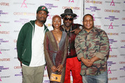 DJ Kay Gee, Leah-Jenea Gaines, Treach and  Vin Rock attend Finding Ashley Stewart 2018 at Kings Theatre on September 15, 2018 in Brooklyn, New York.