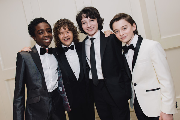 Finn Wolfhard, Caleb McLaughlin, and Noah Schnapp Prepare for the 74th Annual Golden Globe Awards