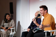 (L-R) Sade Strehlke, Candace Bushnell and Matt Rogers attend Fire TV Presents: Love on Screen Panel & Screening Event at Museum of Modern Love on October 11, 2019 in New York City.