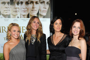 """(L-R) Actresses Hayden Panettiere, Julia Roberts, Carrie-Anne Moss and Shannon Lucio arrive at the """"Fireflies In The Garden"""" Premiere at Pacific Theaters at the Grove on October 12, 2011 in Los Angeles, California."""
