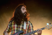 Payam Doostzadeh of Young The Giant performs onstage during day 2 of the Firefly Music Festival on June 20, 2014 in Dover, Delaware.